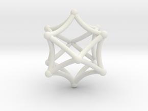 Octacube in White Natural Versatile Plastic