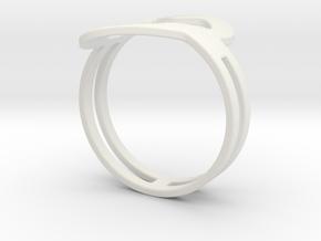 Customized fashion Ring 1 in White Natural Versatile Plastic