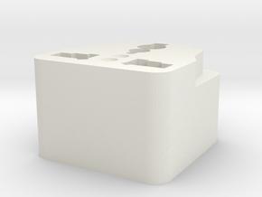 Customized Adaptor in White Natural Versatile Plastic