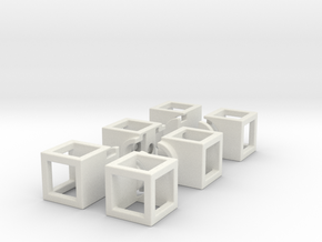 Hollow 1x2x3 in White Natural Versatile Plastic