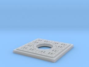 Floor Tile Manhole in Smooth Fine Detail Plastic