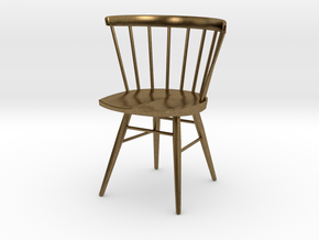 Nakashima Straight-Backed Chair - 6cm tall in Natural Bronze