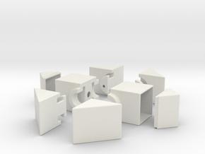 Fisher 1x2x3 in White Natural Versatile Plastic