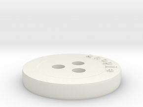 Generated button in White Natural Versatile Plastic