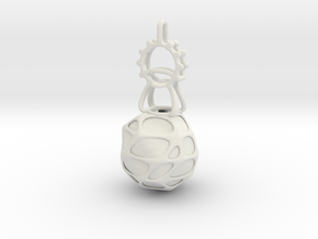 LED Pendant Ornament in White Natural Versatile Plastic