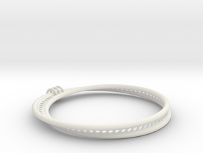 Möbius Snake Bracelet (Large) in White Strong & Flexible