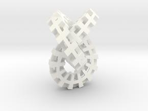 Escher knot small in White Processed Versatile Plastic