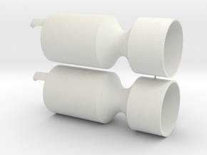 Xmas cracker in White Natural Versatile Plastic