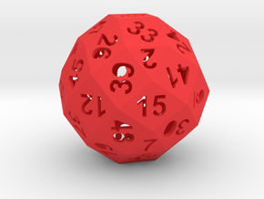 50-side die (hollow) in Red Strong & Flexible Polished