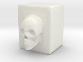 Mental Block in White Natural Versatile Plastic