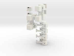 The S-Cube in White Natural Versatile Plastic