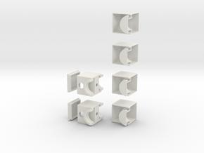Minimis 1x2x3 in White Natural Versatile Plastic