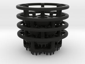 LED-holders for PET bottles (larger) in Black Strong & Flexible