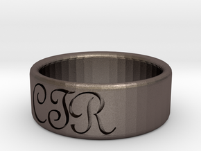 CTR Ring Size 9 in Polished Bronzed Silver Steel