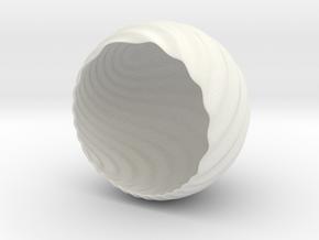 Shockwave Tea-Light Cover in White Strong & Flexible