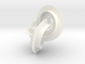 mobius strip in White Strong & Flexible Polished