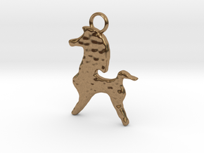 Bucephalus Horse Pendant in Natural Brass