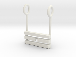 I Ching Trigram Pendant - Li Lower in White Natural Versatile Plastic