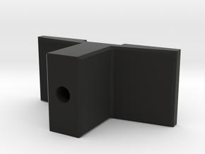 Arcadia screen door latch in Black Natural Versatile Plastic