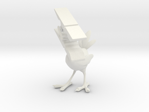 Clothespin Bird in White Strong & Flexible