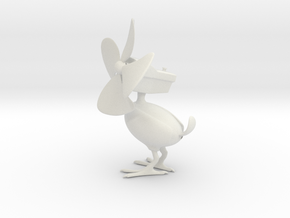 Deskfan Bird in White Natural Versatile Plastic