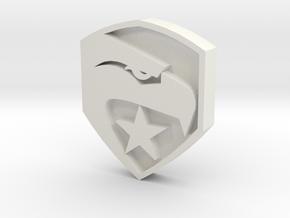 smaller gi joe button in White Strong & Flexible