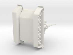 Dino Tankbot in White Natural Versatile Plastic