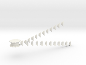 Dodecagonal Floppy Cube in White Natural Versatile Plastic