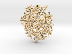 Snowflake Earrings in 14K Yellow Gold