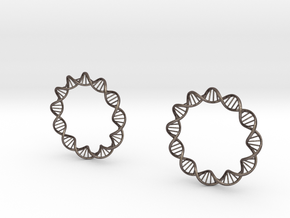 Virus DNA earings in Stainless Steel