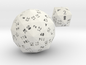 Catalan dice bundle 4 in White Natural Versatile Plastic