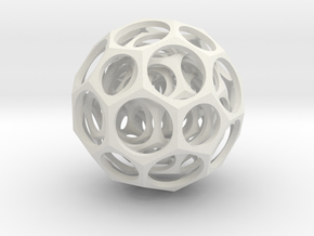 Nested truncated icosahedra in Stainless Steel