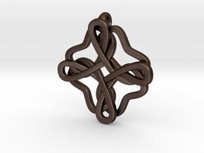 Friendship knot in Matte Bronze Steel