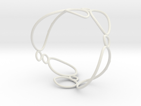 Pebbles Bangle in White Natural Versatile Plastic