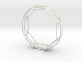 Interconnected Stones Bangle in White Strong & Flexible