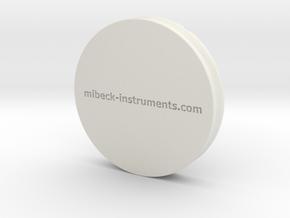 XRD Sample Holder for Glass Petrographic Slides in White Natural Versatile Plastic
