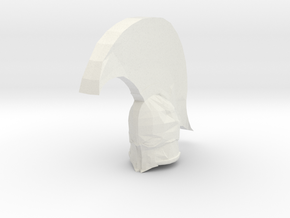 "Helm3"" in White Natural Versatile Plastic"