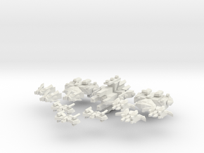 Outsider Raiding Force in White Natural Versatile Plastic