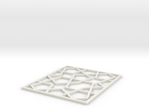 Girih Tile2 in White Natural Versatile Plastic