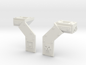 Rear Indent Covers  in White Natural Versatile Plastic