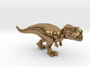 Ceratosaurus Chubbie Krentz in Natural Brass
