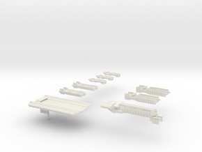Fleet Scale Series 1: The entire Terran fleet in White Strong & Flexible