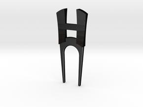 HDivot in Matte Black Steel