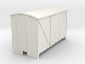 OO9 Goods van (long) Planked door in White Strong & Flexible