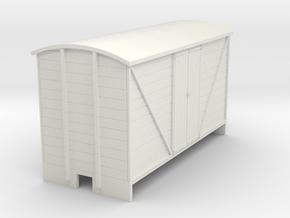 OO9 Goods van (long) Planked door in White Natural Versatile Plastic