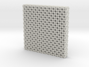 Square Maille flat N coasters (4) in White Strong & Flexible