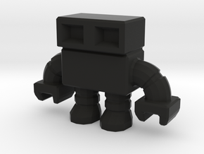 robot 0013, with hollow feet in Black Strong & Flexible