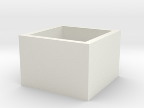 SquareRing 18mmx15mm in White Natural Versatile Plastic
