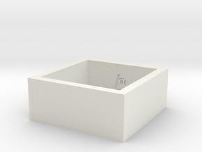 SquareRing 20mmx10mm in White Natural Versatile Plastic