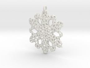 Snowflake Ornament - La Mer in White Natural Versatile Plastic